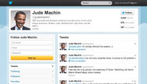 Jude Machin Twitter Screenshot Obama avatar